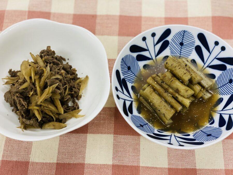 旬のごぼうを使って二種類の料理